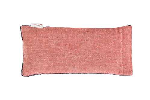 Eye Pillow Filled With Flaxseed & Lavender - Reversible Red & Blue