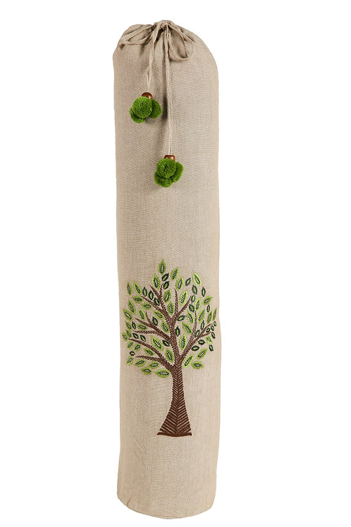 Yoga Mat Bag With Tree of Life Embroidery
