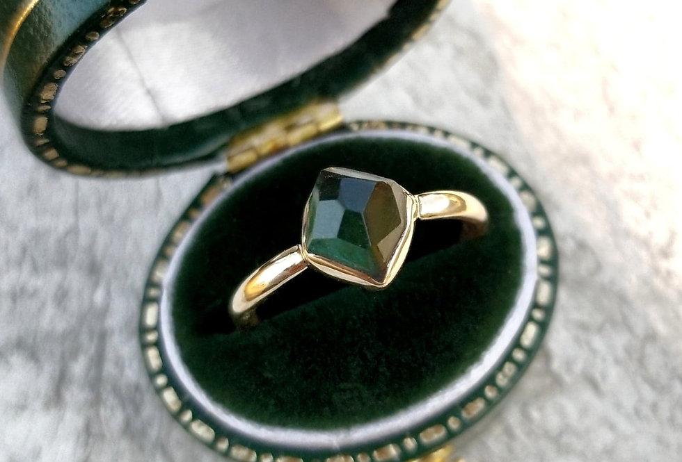 """""""14k Gold Green Tourmaline Ring"""""""