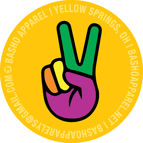 2 inch Peace Sign Sticker