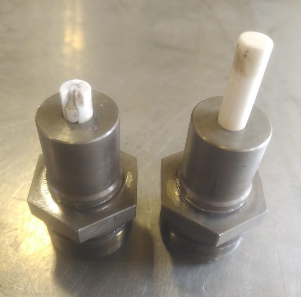 Seized Ceramic Plunger