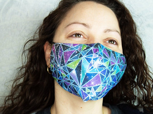 Geometric Galaxy Print Reusable & Breathable Face Mask Covering