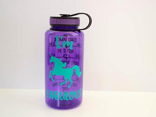 Unicorn Water Bottle - I'm Fabulous - Wide Mouth - Drink Bottle