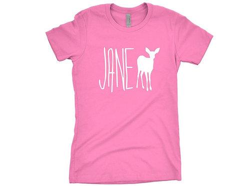 Jane Doe Shirt Hot Pink Maxine Caulfield Screen Printed Cosplay Shirt