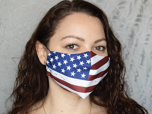 USA Flags Printed Reusable & Breathable Face Mask Cover