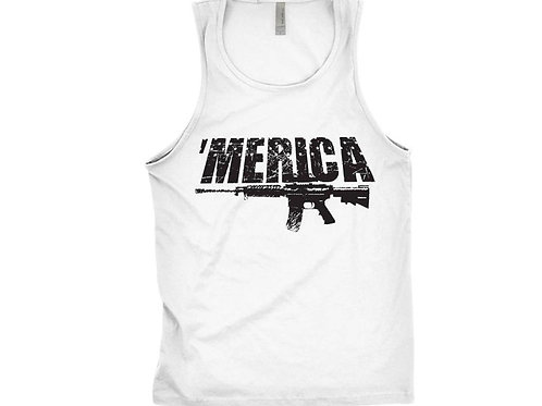Merica Tank Top AR15 Graphic Print Tank Screen Printed -Gift For Trump Supporter