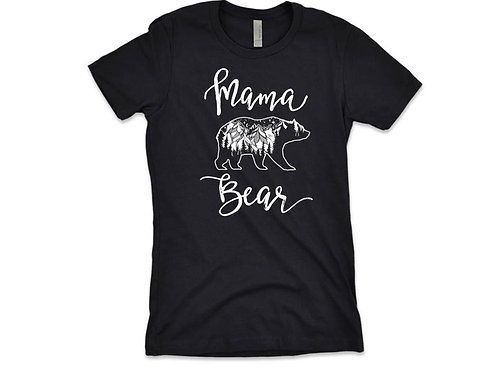 MAMA BEAR T-shirt - Great Gift For Mom - With Graphic Screen Print