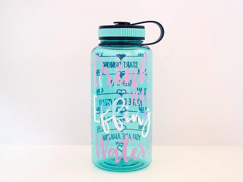 Drink Your Effing Water - Freedom - Water Intake Bottle- Wide Mouth Bottle