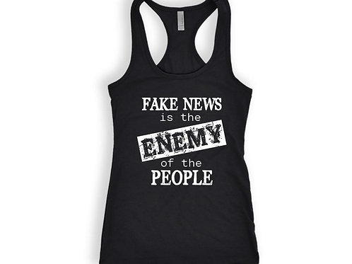 FAKE NEWS is the Enemy of the PEOPLE tanktop Gift for Trump Supporter Tank Top