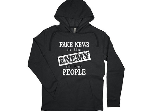 FAKE NEWS is the Enemy of the PEOPLE Hoodie Gift for Trump Supporter Tee