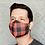 Thumbnail: Red Buffalo Check Printed Reusable & Breathable Face Mask Cover