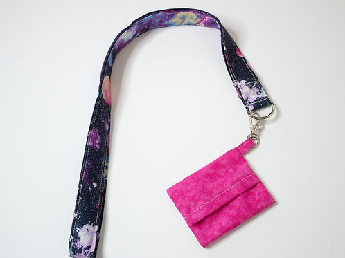 Lanyard with Mask Storage Pouch Keychain - 2 piece Lanyard & Pouch Set