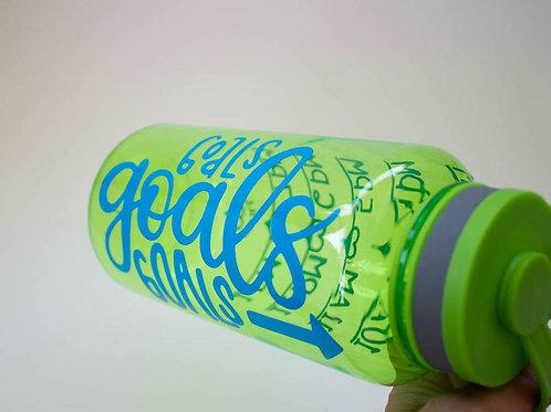 Goals Goals Goals - Goal Bottle - Water Intake Bottle -   Wide Mouth Bottle