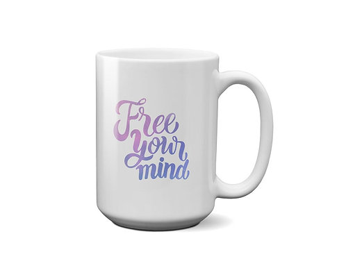 Free Your Mind - Ceramic Mug - Galaxy Quote - Gift for Best Friend - Mug for tea
