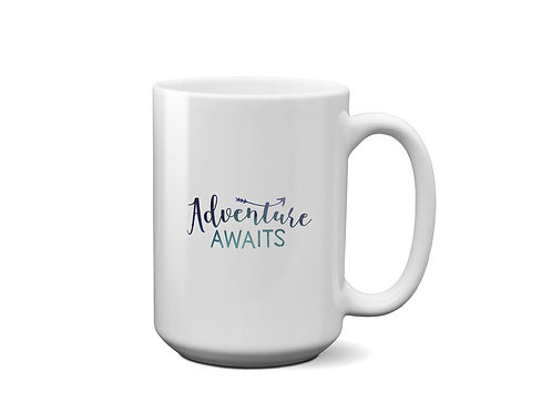 Adventure Awaits - Galaxy Patterned Design - Gift for Best Friend - Mug for tea