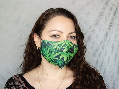 Cannabis Print Reusable & Breathable Face Mask Covering