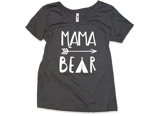 MAMA BEAR Vneck Shirt Great Gift For Mom Gift For Expecting Mother Shirt