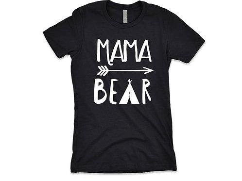 MAMA BEAR Shirt Premium Black Tee - Expecting Mother Gift