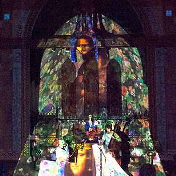 Projection mapping at Church