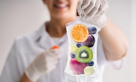 IV Drip Vitamin Infusion Therapy Saline