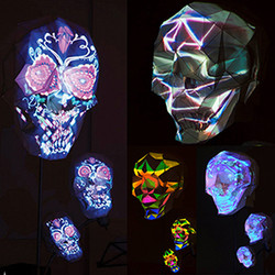 3D Projection Mapping Skull