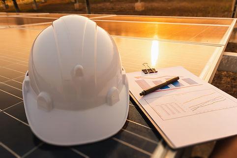 Solar modules maintenance work