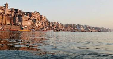 River ghat where rituals are performed