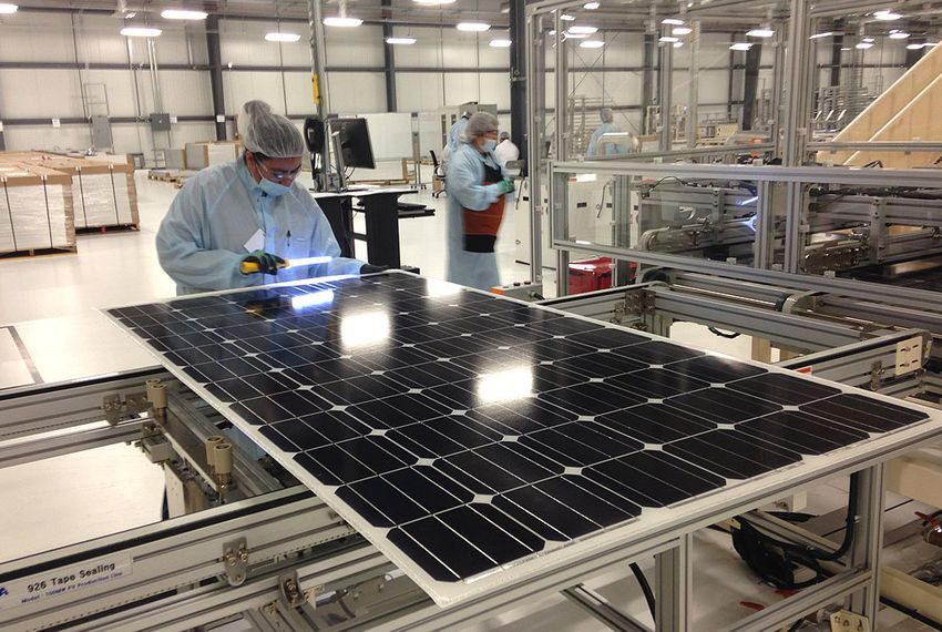 Solar panels manufacturing process