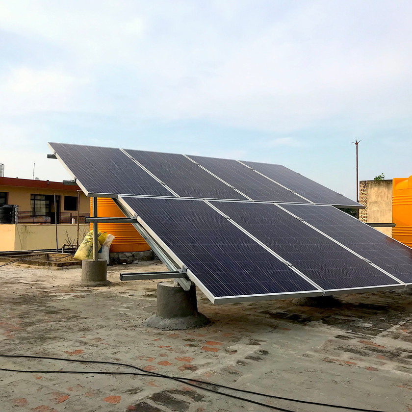 Rooftop solar plant on Chandigarh roof