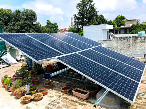 3kW Solar Plant, garden below