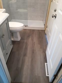 LVT Flooring in Bath Remodel