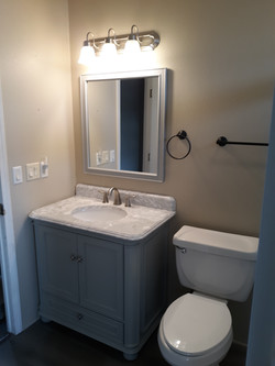 Bath remodel Vanity and Mirror