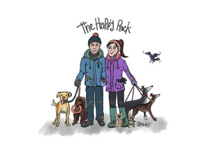 Dog Walkers Website Art