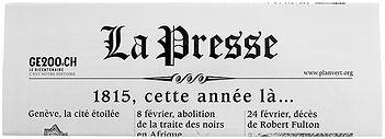 journal la Presse 2015