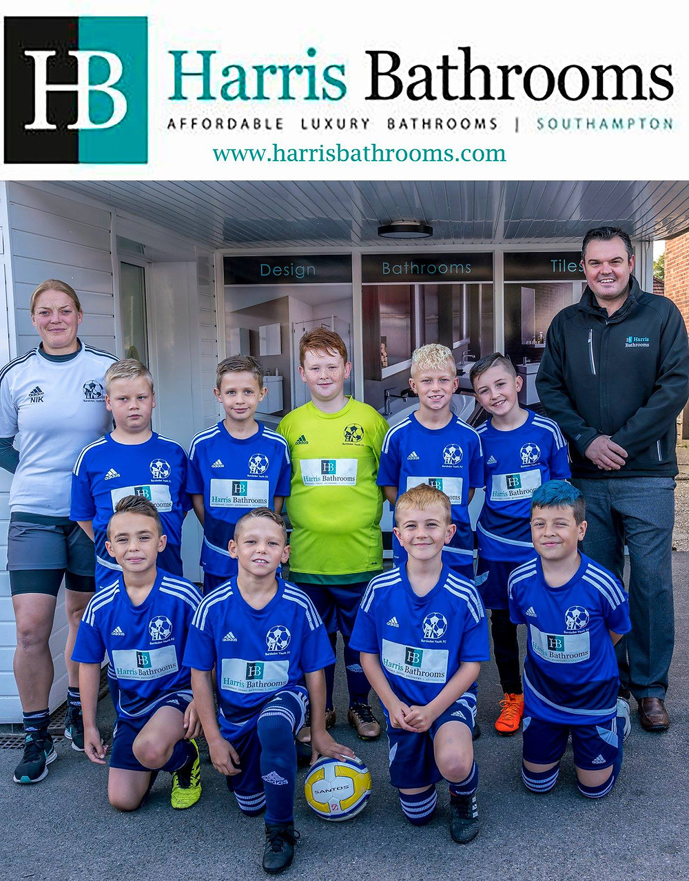 Harris Bathrooms Sponsor Bursledon Youth FC