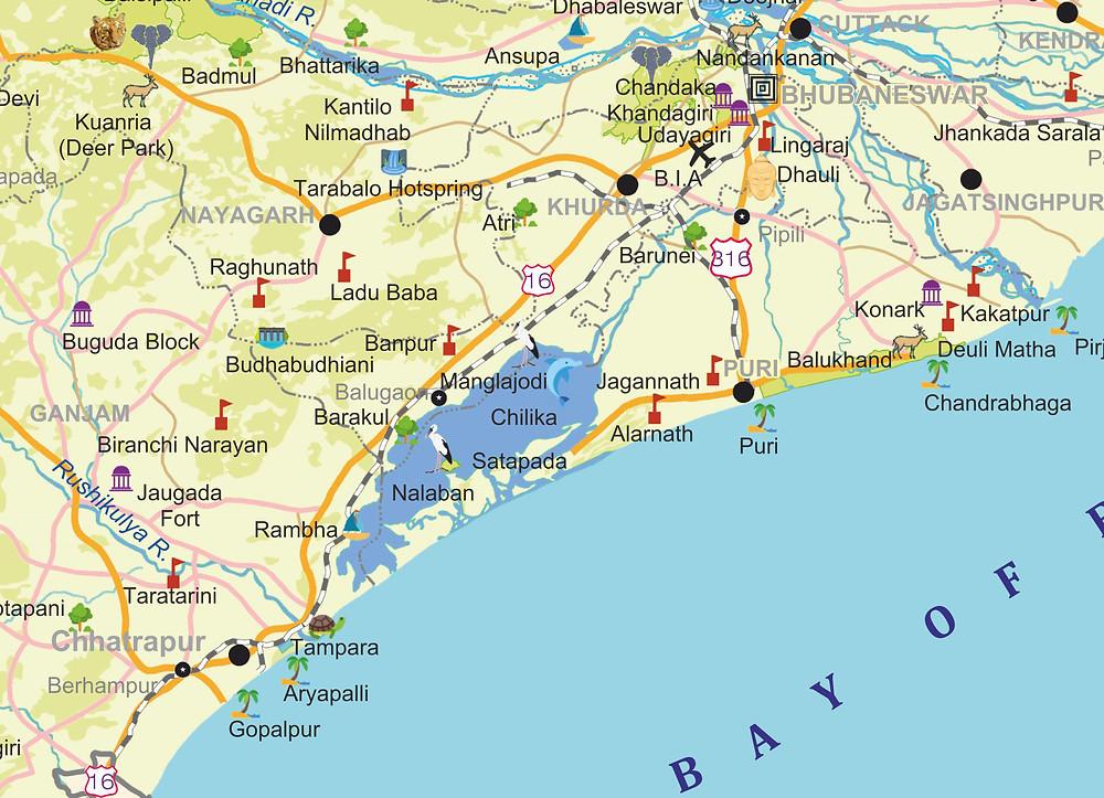 Bhubaneswar-Berhampur Tourist Places