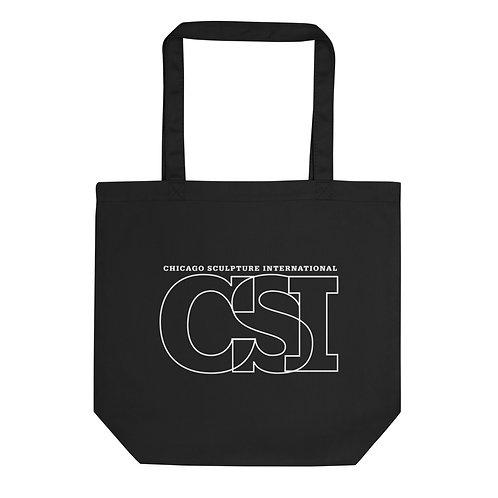 CSI Logo  Black  Eco Tote Bag