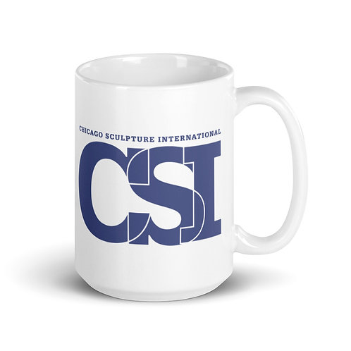 CSI White glossy mug