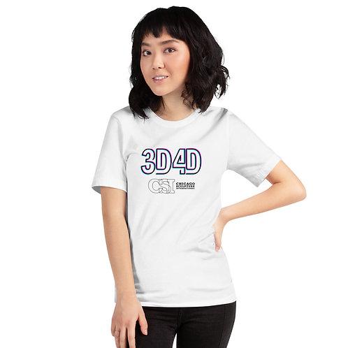3D4D Logo Glitch  Short-Sleeve Unisex T-Shirt