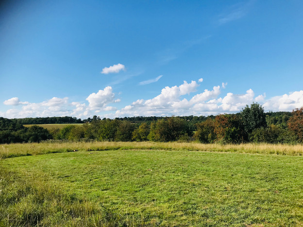 A lovely grassy area  to sit and enjoy the views across to Blenheim
