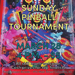 Transmission Arcade - March Pinball Tournament