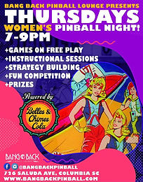 Women's Pinball Night at Bang Back