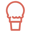 Weekly Poop Scoop Logo - Red & White Ice Cream Cone