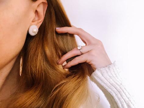 diy knit earring cuff
