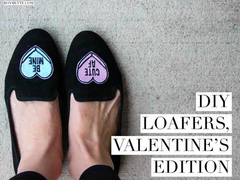 diy smoking slippers, valentine's edition