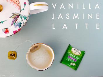 vanilla jasmine latte