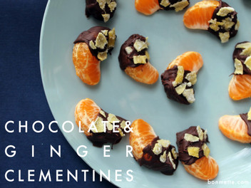 chocolate & crystalized ginger clementines