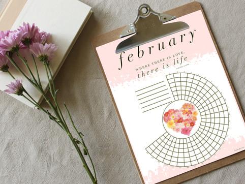 a february habit tracker freebie