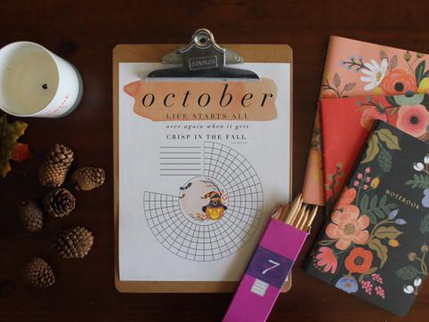 october 2021 habit tracker