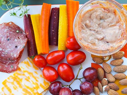 hummus & salsa dip